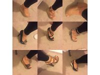 Size 3 women's shoes (9 pairs)