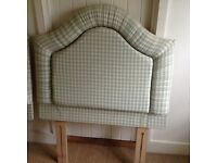 Pretty padded single bed headboard covered in Laura Ashley fabric