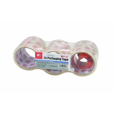 NEW 6 PACK SUPER CLEAR PACKAGING TAPE 55 YD X 2'  PACKING ,MAILING MOVING
