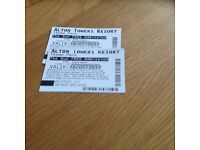 Alton towers tickets x2 16th July