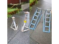 Car Ramps + Axle Stands
