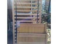 Wooden single bed frame (no mattress)