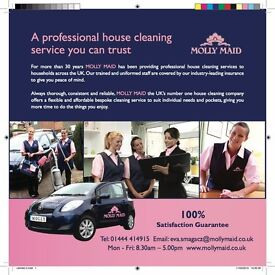 Experienced Cleaner / Housekeeper . £9 per hour