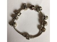 Genuine Pandora bracelet and charms