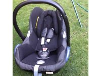 Maxi cosi newborn baby car seat