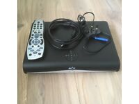 2 x Sky Plus HD Boxes with remotes, power cable and HDMI leads.