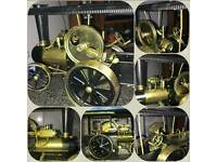 Live steam traction engine tractor boxed