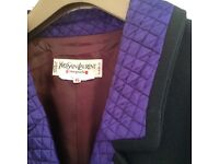 VINTAGE YVES SAINT LAURENT - RIVE GAUCHE - JACKET AND 2 SKIRTS - SIZE EURO 46