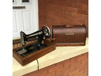 Retro Antique Vintage Singer 99k Sewing Machine Dated 1916 Hand Crank 101 years