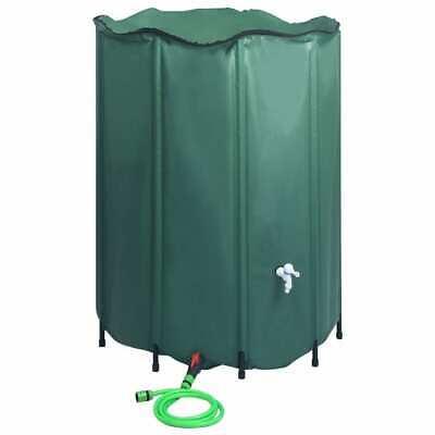 vidaXL Collapsible Rain Water Tank with Spigot 1250L Water Barrel Collector