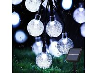 NEW Augone Solar Garden Lights Waterproof, 50LED 7M/24Ft Solar String Lights Outdoor, 8 Modes