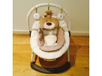 Near Perfect Mothercare 'Loved So Much' Bear Baby Bouncer