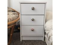 White Bedside Set of 3 Drawers