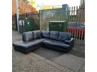 black leather corner group sofa from dfs