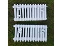 Four column radiators x 2