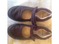Girls Clarkes Shoes Size 9E