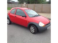 Ford KA - very lively1.3 engine - 49,705 miles - red -'04 reg