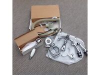 Bloomsbury Chrome bath mixer taps and shower hose - NEW IN BOX