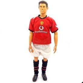"Cristiano Ronaldo Kick O Mania Figure Football Manchester United 12"" 2004 Revell"
