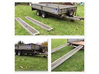 "Ifor Williams LM126G Trailer / 12' Long X 6'6"" Wide - VERY GOOD CONDITION & INCLUDES RAMPS!"