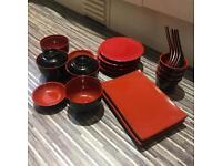 Japanese cutlery set restaurant standard.