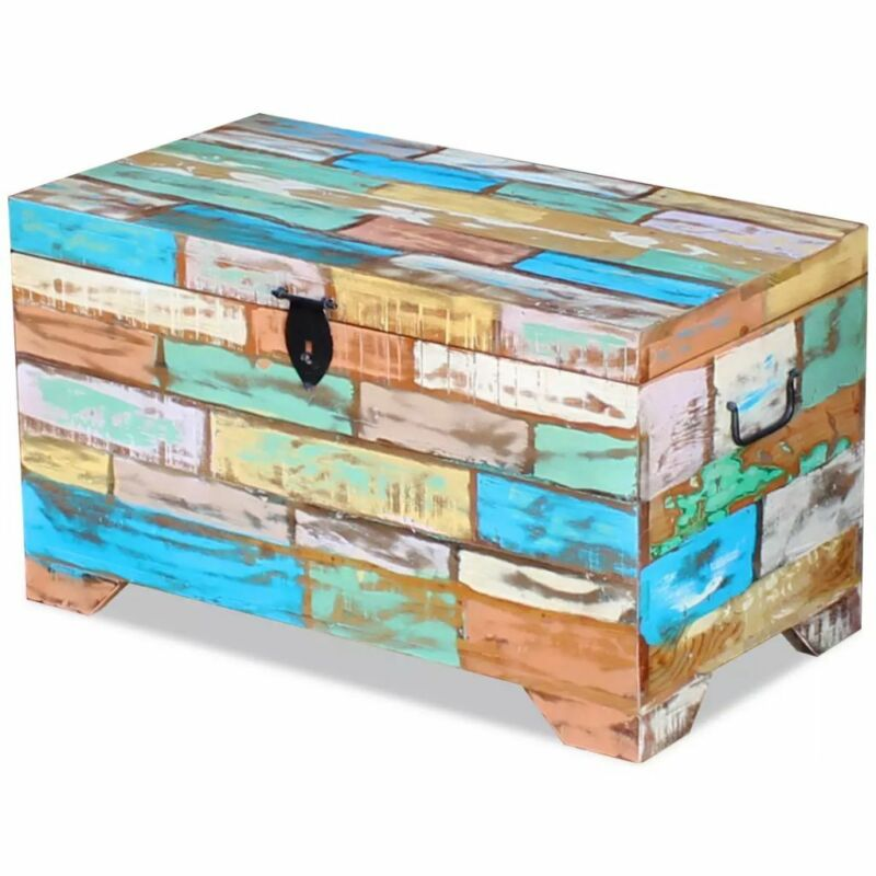 vidaXL Storage Chest Trunk Wood Bedroom Large Box Blanket Books Shoes Toys