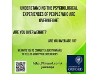Do you have a BMI over 25? Please take part in an online research study!