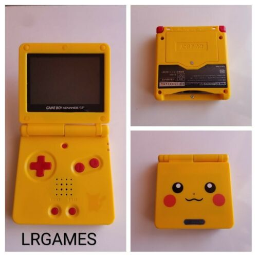 Nintendo Gameboy Advance SP Custom Pikachu Pokemon Yellow  System Model AGS-001