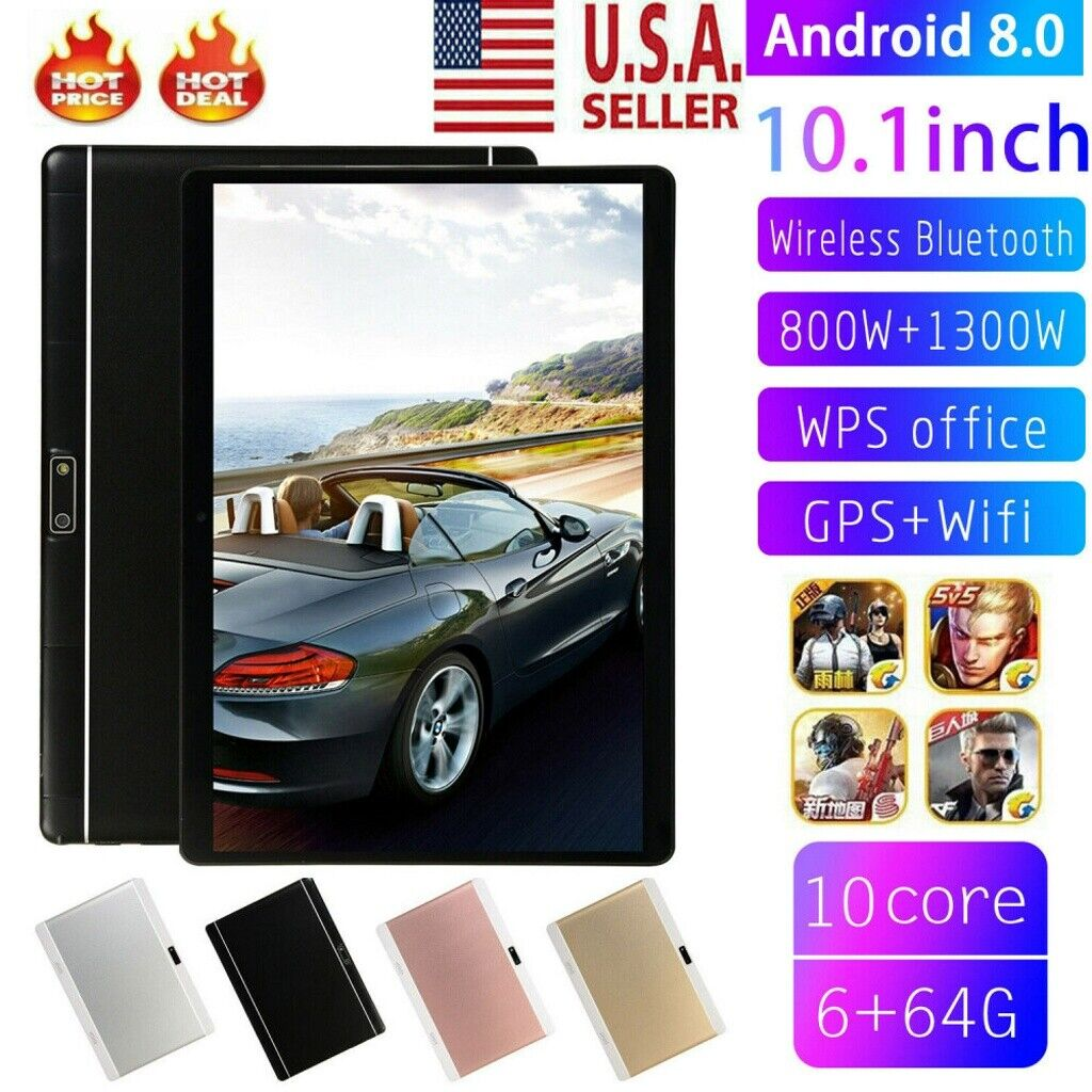 Android 8.0 10.1 Inch HD Game Tablet Computer Ten Core PC GP