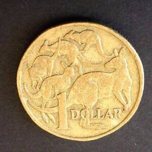 """Error Coins: 1998 $1 One Dollar Top Roo """"Rabbit Ears"""" Cud Error Findon Charles Sturt Area Preview"""