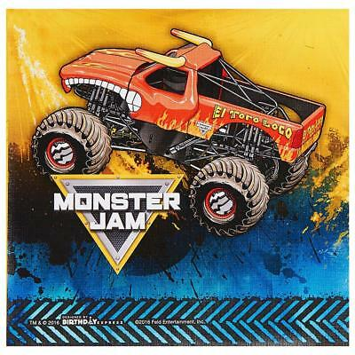 Monster Truck Jam Crunch Time Lunch Napkins 20 Count Birthday Party Supplies ()