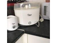 Steam steriliser and bottle warmer