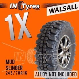 1x 245/70r16 Mud Slinger Tyres Mud Terrain 245 70 16 MT Kingpin Like Insa Turbo