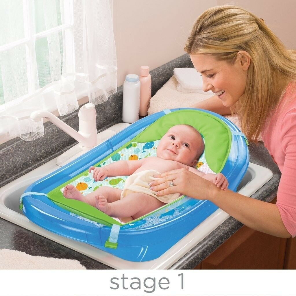 Sparkle and splash 3 Stages baby Bath tub With Sling | in Barking ...
