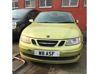 Saab 9-3 2.0 T Linear 2dr 2007 (56 reg), Convertible 55,000 miles Automatic Petrol+Private Plate