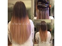 Russian Brazilian Indian virgin Remi micro rings keratin bonds mobile hair extensions from £140
