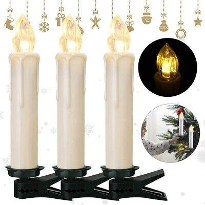 LED Candele 3 Packs senza Telecomando Luce Tremolante Vera Cera Set