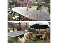6 seater teak garden furniture