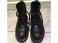 Dr Martens Size 6 boots with steel toe an stitched sole ...these are a heavy duty