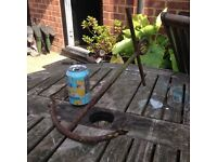 Rusty old anchor wanted for garden pond