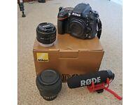 Nikon D610 FX (Full Frame) video DSLR + 2 lenses & external microphone