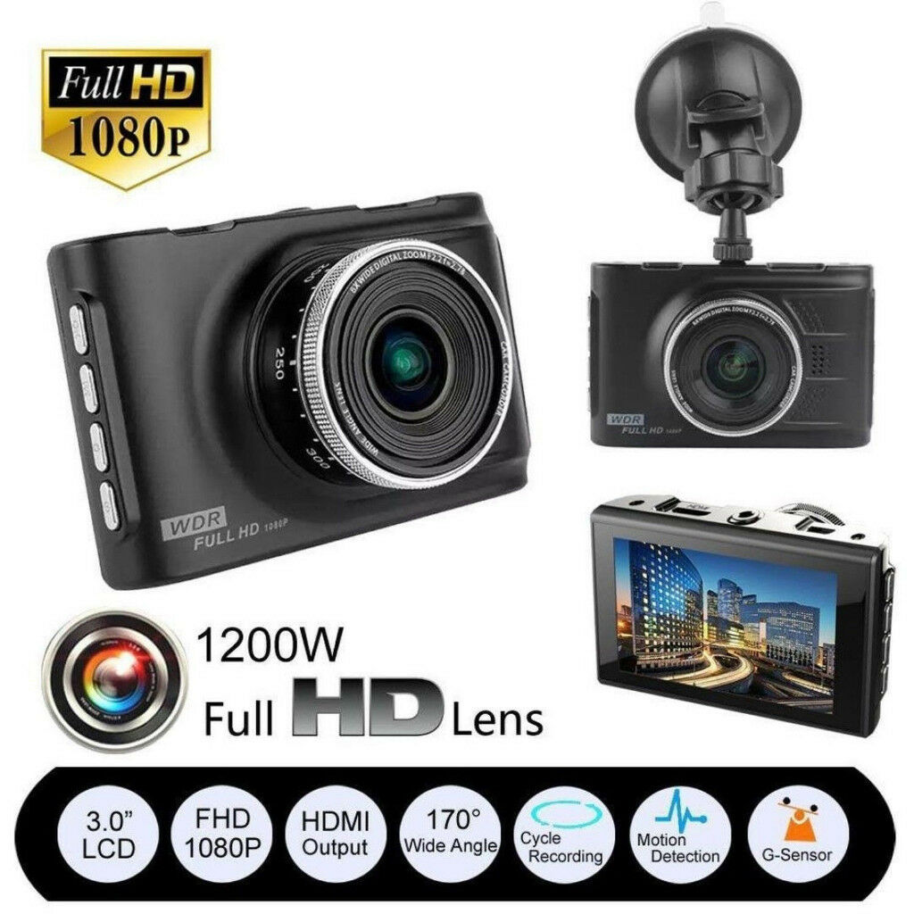 Dash Cam Car DVR 3 Full HD 1080P LCD 170 Degree Car DVR CCTV Dash yukong