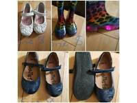 All size 8 shoes & wellies
