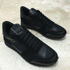 Valentino Rockstud Camo Black Runner Low Top Sneakers UK 7 8 9 10