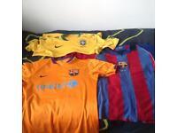 Barcelona & Brazil Football Shirts