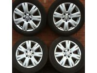 "Mercedes Benz C Class w204 w205 16 inch alloy wheel rims and tyres 205 55 16"" C-Class"