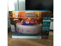 Lay Z Spa Paris Hot Tub 6 Person LED Lights with Warranty Receipt lazy spa vegas helsinki maldives
