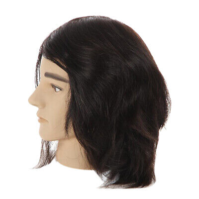 Free Human Hair Male Mannequin Head Cosmetology Training Styling Head for sale  China
