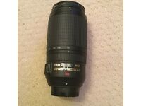 Nikkor 70 to 300mm ed vr lens, f4.5 to 5.6