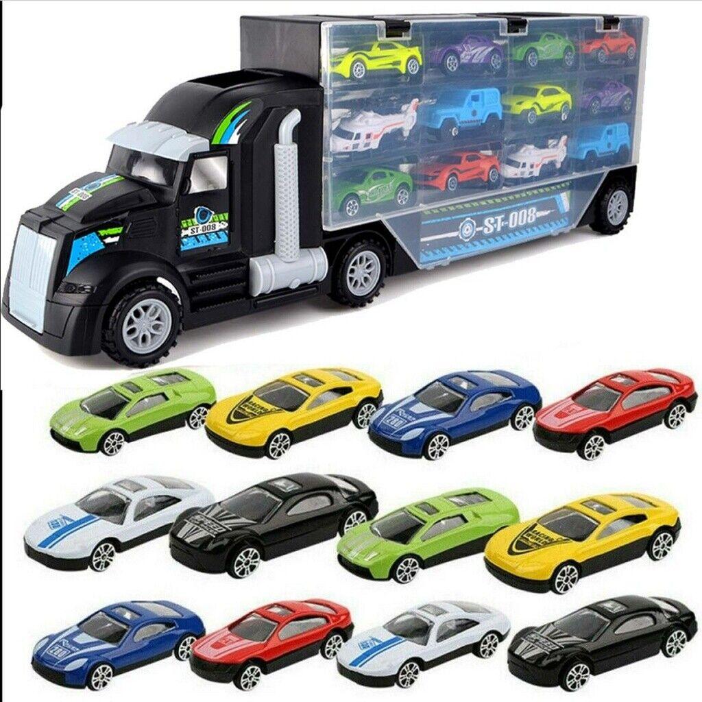 Kinder Spielzeugauto mit 12 Rennautos Spielzeug XXXL Transporter De Lieferung
